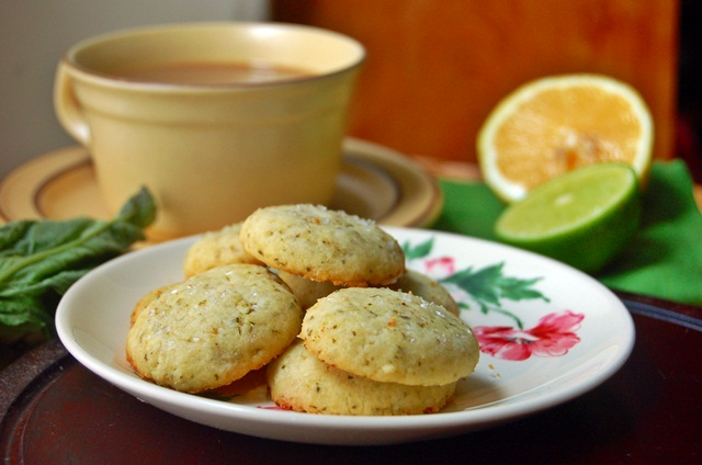 citrus basil butter cookies