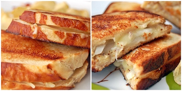 pretzel bread grilled cheese