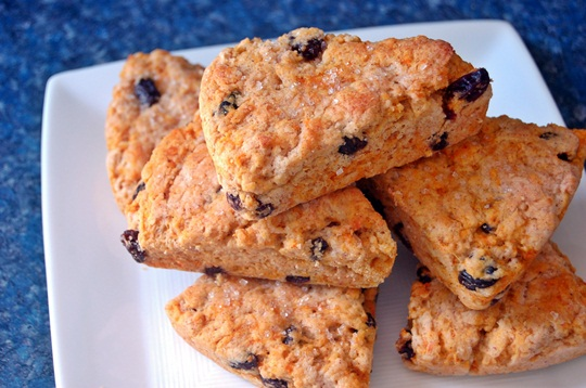 carrot raisin scones