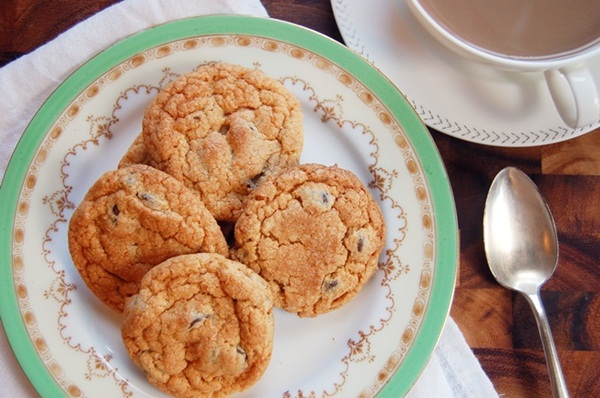 butterscotch choc chip cookies 2