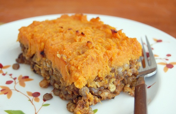 Vegetarian Shepherd's Pie with Lentils, Mushrooms, and Sweet Potato ...