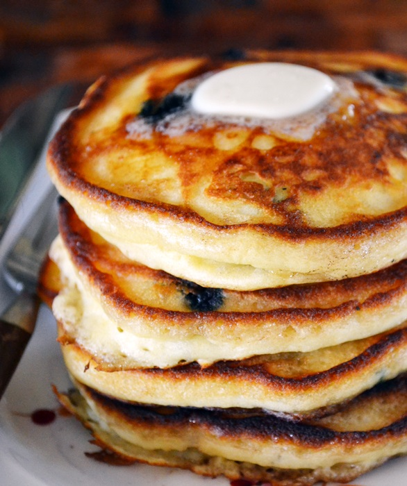 Blueberry Buttermilk Pancakes | The Apron Archives