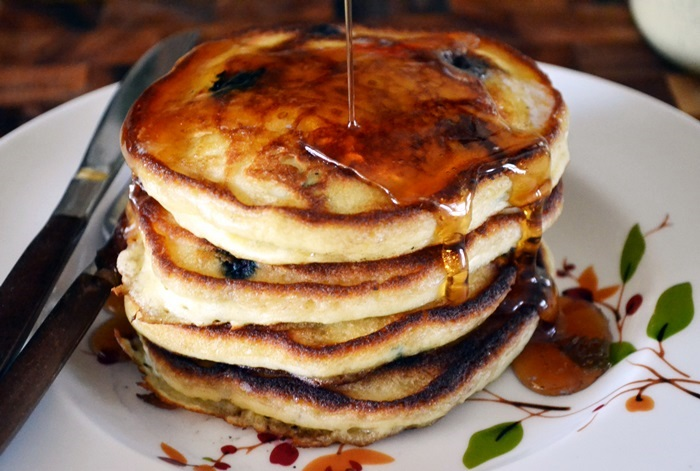 Blueberry Buttermilk Pancakes | The Apron Archives