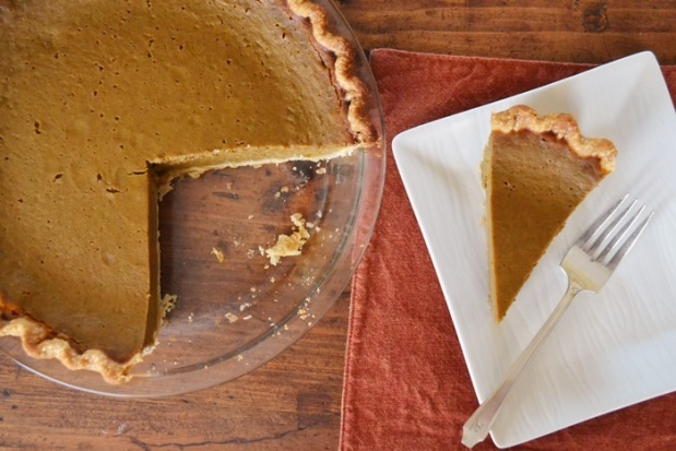 pumpkin pie overhead