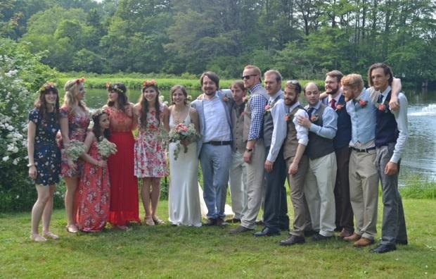 The Ellsworth-Morris wedding party!