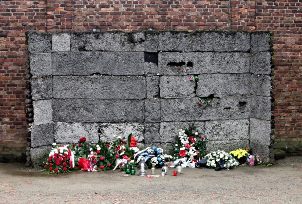 The Death Wall at Auschwitz I.
