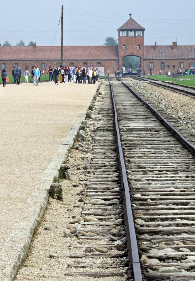The train platform at Birkeneau.