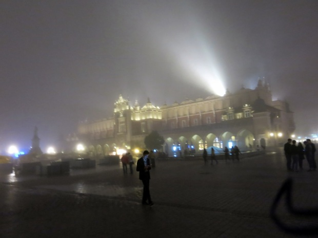Foggy, lovely Krakow.
