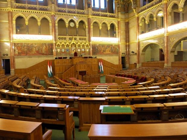 inside hungarian parliament