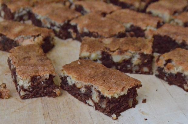 2 layer brownies