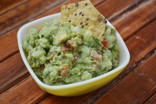 Flavorful and chunky guacamole.