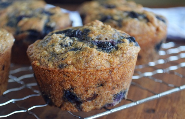 Vegan Blueberry Banana Nut Muffins
