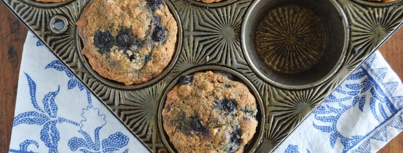 Vegan Blueberry Banana Nut Muffins