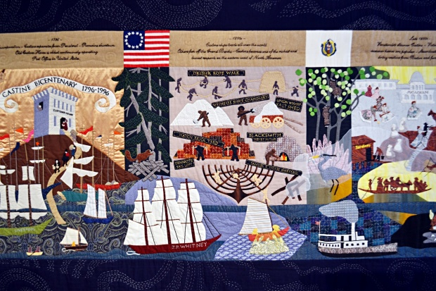 The bicentennial quilt at the Castine Historical Society.